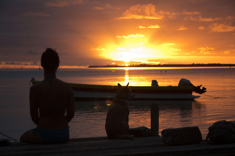 Sonnenuntergang auf Maupiti – Auf Reisen gehen | SOMEWHERE ELSE