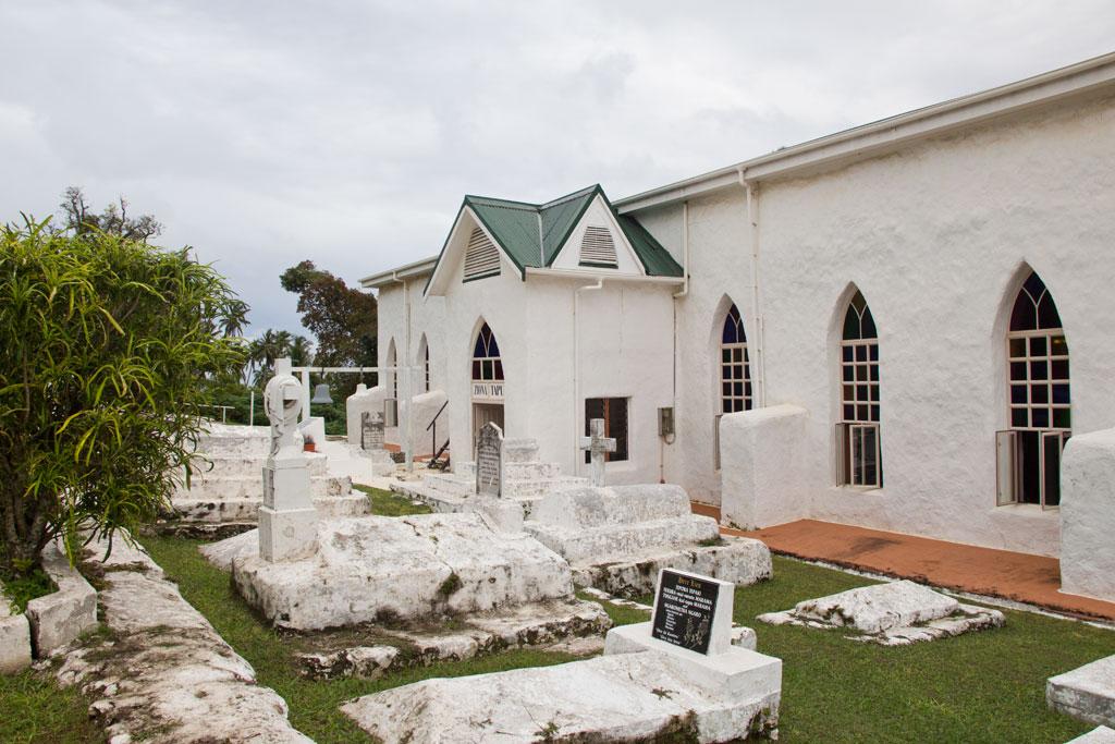 Aitutaki Lagoon Cruise – Kirche   SOMEWHERE ELSE