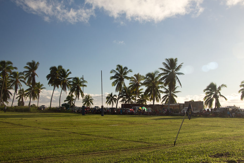 Aitutaki Lagoon Cruise – Rugbyspiel | SOMEWHERE ELSE