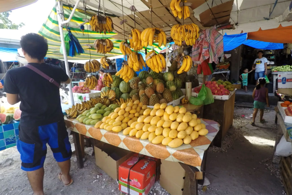 Märkte auf den Philippinen – Marktstand mit Obst in Oslob auf Cebu | SOMEWHERE ELSE