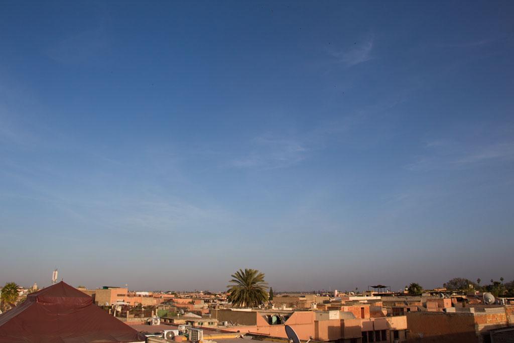 Marokko Trip –Marrakesch Riad –Blick von Dachterrasse |SOMEWHERE ELSE