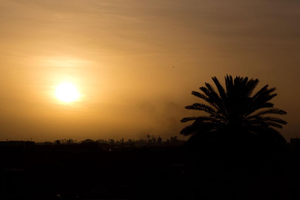 Marokko Trip –Marrakesch Riad –Sonnenaufgang von Dachterrasse |SOMEWHERE ELSE