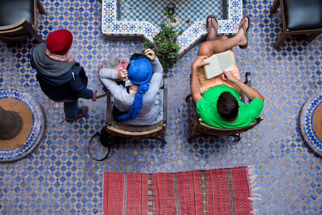 Marokko Trip – Marrakesch Riad – Innenhof von oben | SOMEWHERE ELSE