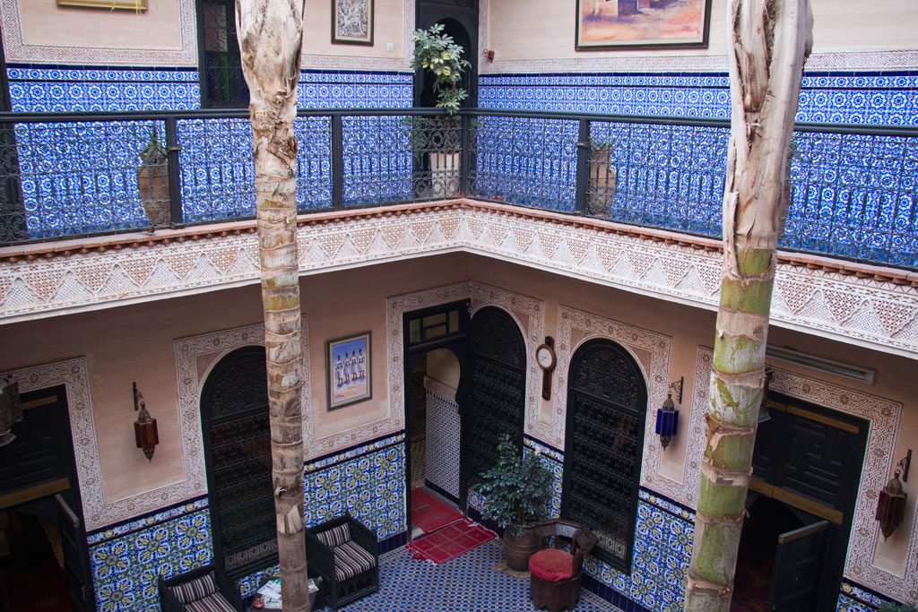 Marokko Trip – Marrakesch Riad – Innenhof | SOMEWHERE ELSE