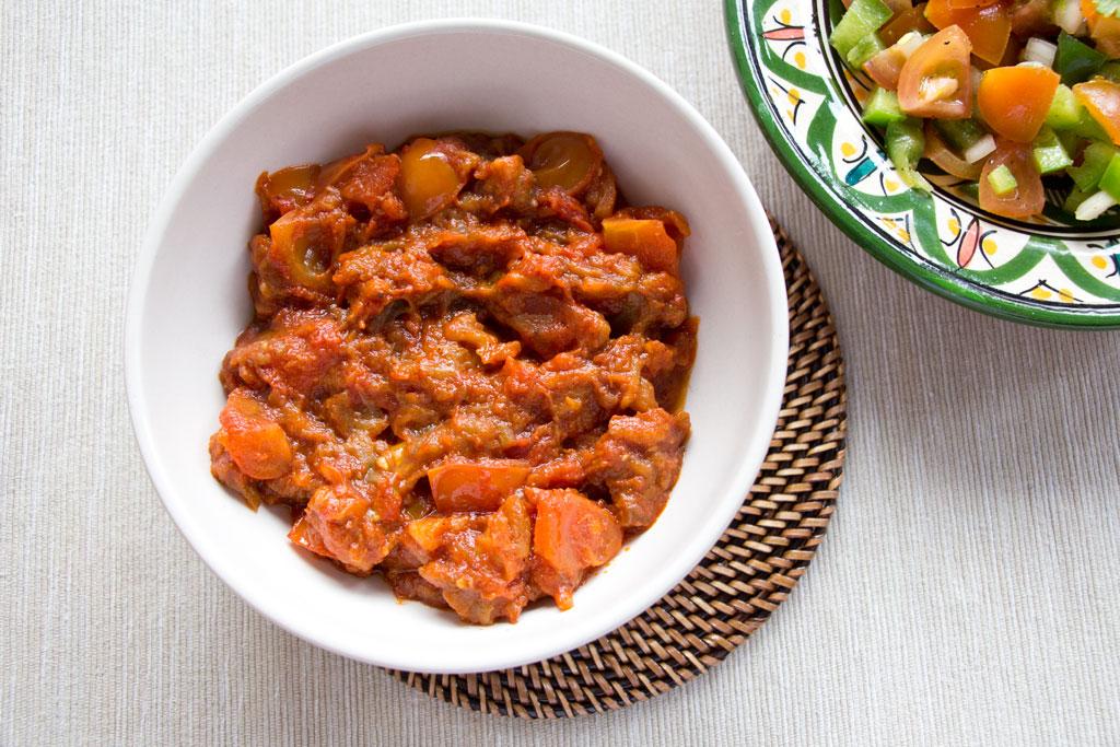 Marokkanische Gerichte – Zaalouk Dip Rezept | SOMEWHERE ELSE