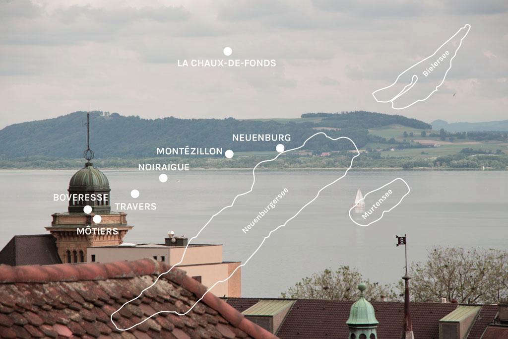 Schweiz Jura – Karte mit Orten um Neuenburg | SOMEWHERE ELSE