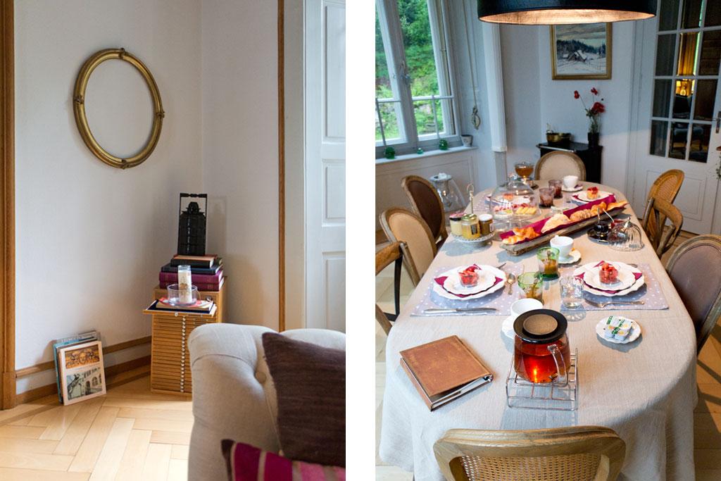 Schweiz Jura – Passion d'une vie – Frühstückstisch im Herrenhaus | SOMEWHERE ELSE