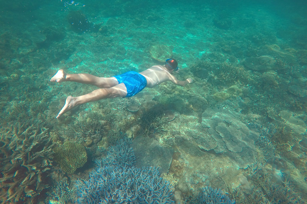 Port Barton – Schnorchler über Korallen | SOMEWHERE ELSE