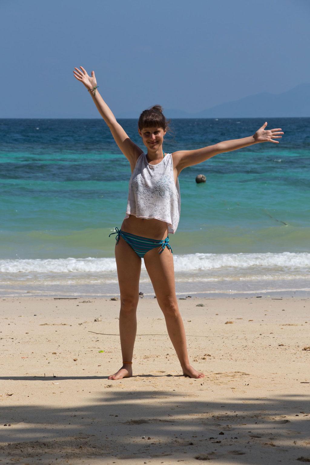 Rückblick – Thailand freudig am Strand auf Koh Phi Phi | SOMEWHERE ELSE